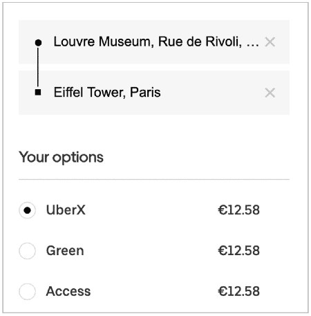 Taxi fare - Louvre to Eiffel Tower