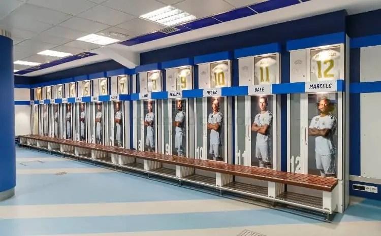 First team's changing room at Bernabeu stadium