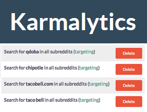 How to monitor reddit with Karmalytics