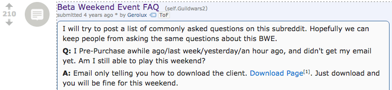 This user took the time to answer frequently asked questions about an upcoming event relevant to the community. No one asked them to create this post, but they did and it was highly upvoted.