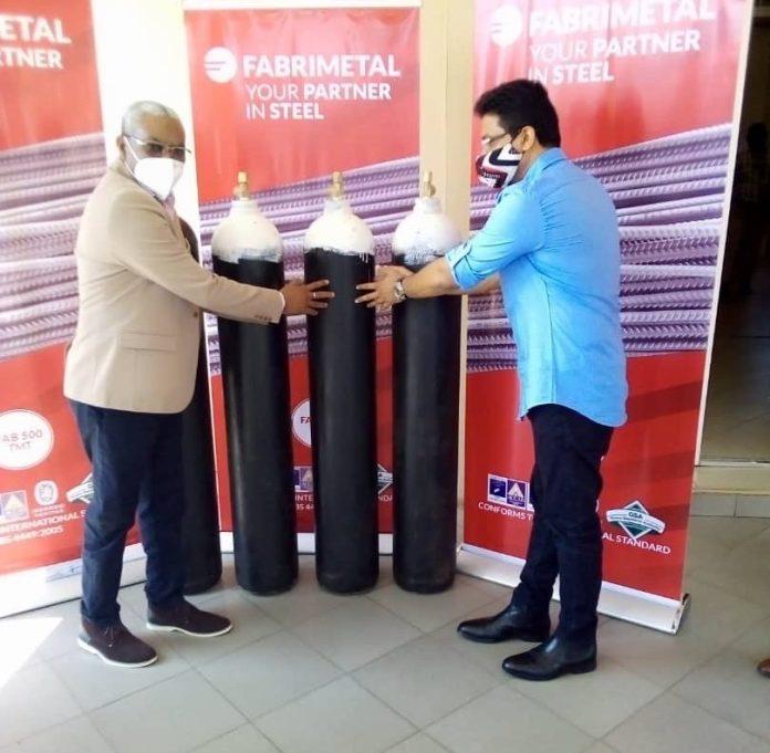 COVID-19: Fabrimetal donates 4000 cubic metres of oxygen to Korle-Bu