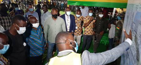 President Akufo-Addo at GNPC Sod Cutting Ceremony.