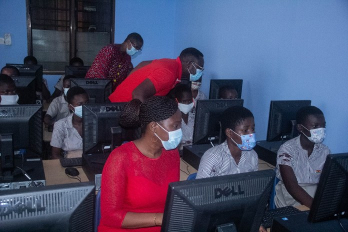 Vodafone Foundation climax 4-Kindred projects with unveiling of Computer Lab for Ofankor M/A 3 JHS