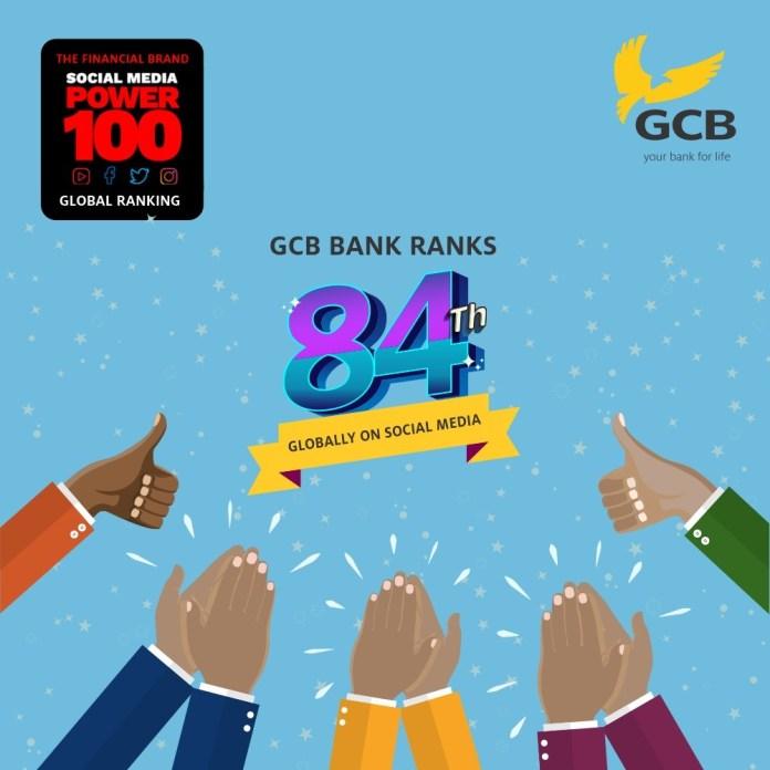 GCB Bank moves up on global social media ranking