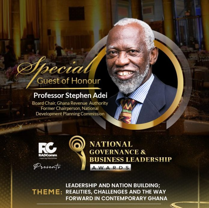 Prof. Adei to Speak on Leadership and Nation Building at NGBL Awards