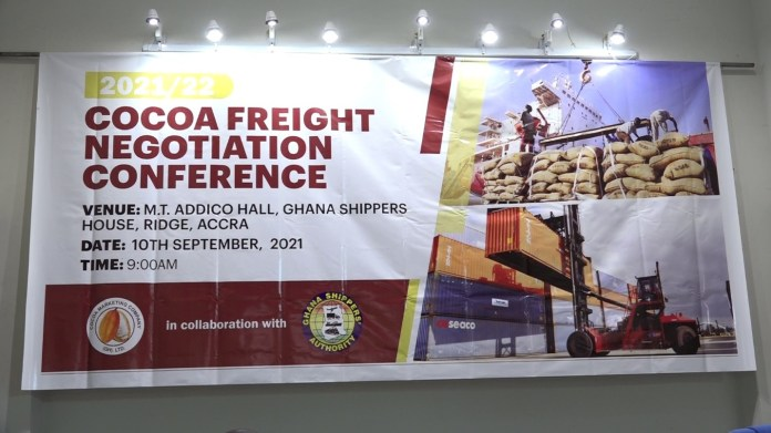 Shipping Lines agree on 5% increase on cocoa freight rates for 2021/2022 season
