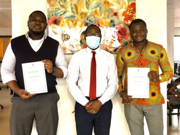 Absa awards Data Journalism Masterclass certificates to two B&FT journalists