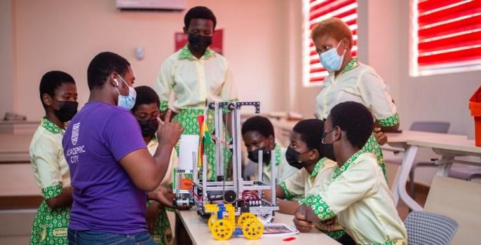 Academic City students' mentors Aburi Girls ahead of international robotic competition