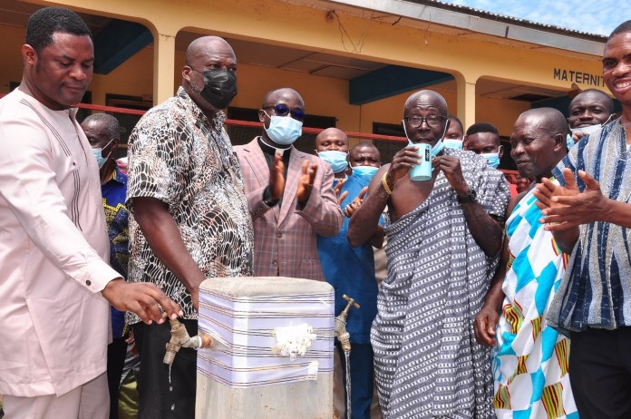 Afriwave Telecom provides Ekye-Amanfrom with potable water