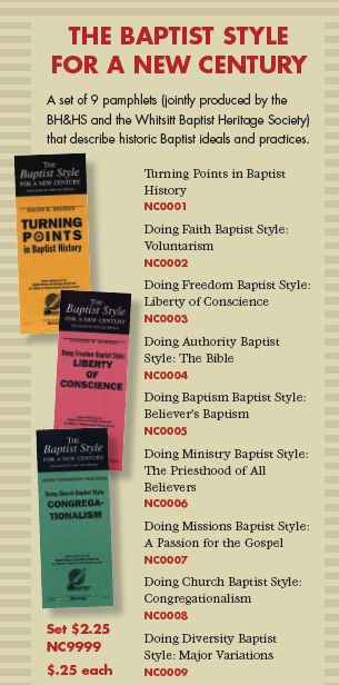 baptist style booklets