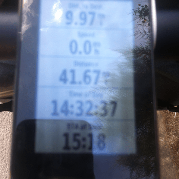 Can I make it? Hit the wall at 41-mile mark. Il fait trop chaud!