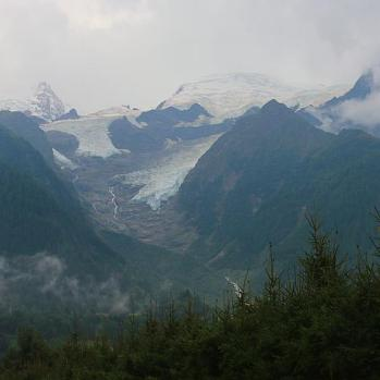 Mont Blanc itself - my view from the campsite