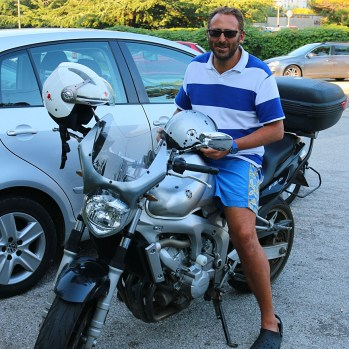 My lovely Trieste host and his trusty steed #moreengineenvy