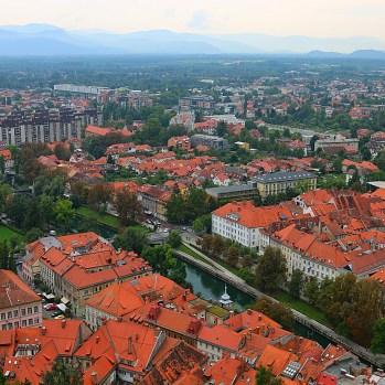 View of city from Ljubljana Castle