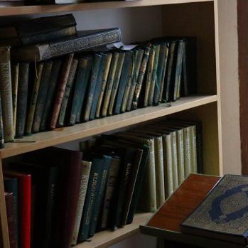 Copies of the Koran inside the Sultan Mehmet Fatih Mosque.