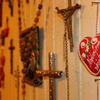 Decor inside the cottage. Croatia is a deeply religious country, with about 86% of the population identifying as Catholic