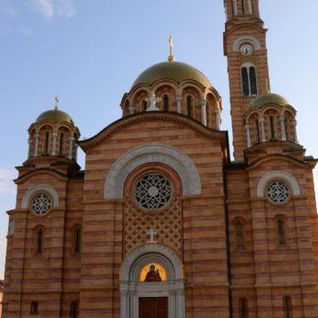 The Cathedral of Holy Trinity in Banja Luka (the centre of Republika Srpska, the Bosnian Serb Republic), was completely destroyed by the Nazis in 1941, with Serbs, Roma and Jews ordered to carry out the demolition. This rebuilt version was completed in 2009.