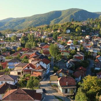 View from the Jajce Fortress, built in the C14th by the city founder.