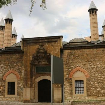 The Gazi Husrev Beg Mosque, described in the literature as 'the most monumental mosque of the Ottoman period'. It was built by Beg in 1951, and designed by the chief architect of the Ottoman period, Ajam Asir Ali.