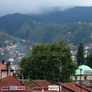 Sarajevo hills and rooftops.
