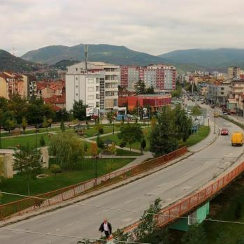 Mitrovica, a city divided between the Serb north and Albanian south.