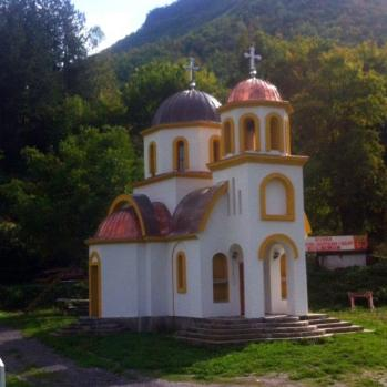 A toy box church in Montenegro.