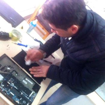 Local computer shop in Harmanli attempts to fix laptop, but the destructive donkey/milk combo proves too resilient.