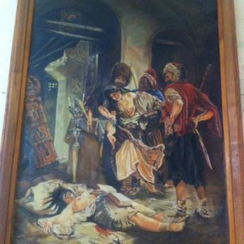 As well as pics of bosomy women being slain in battle.