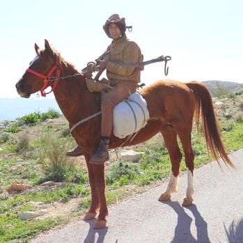 A passing highwayman - or just a horseman, as it turns out.