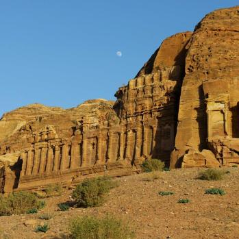 The royal tombs, which housed the tombs of the most important Nabataeans dignitaries.