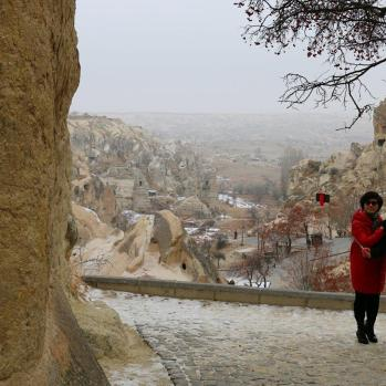Selfie-snappers in the Goreme Open Air Museum