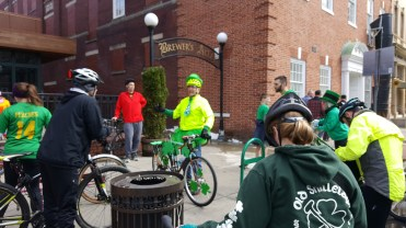 We meeting at Brewer's Ally a great spuorter of cycling in Frederick.