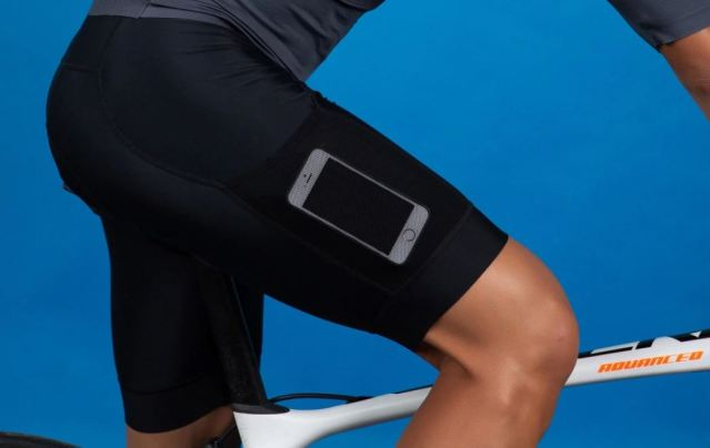 MY KILOMETRE Mens Cycling Bib Shorts with Big Side Pockets Padded Bib Shorts Cycling Bike Shorts