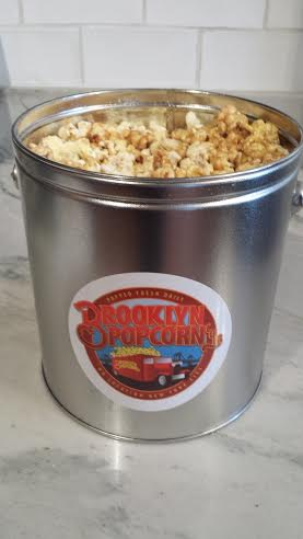 Brooklyn popcorn tin