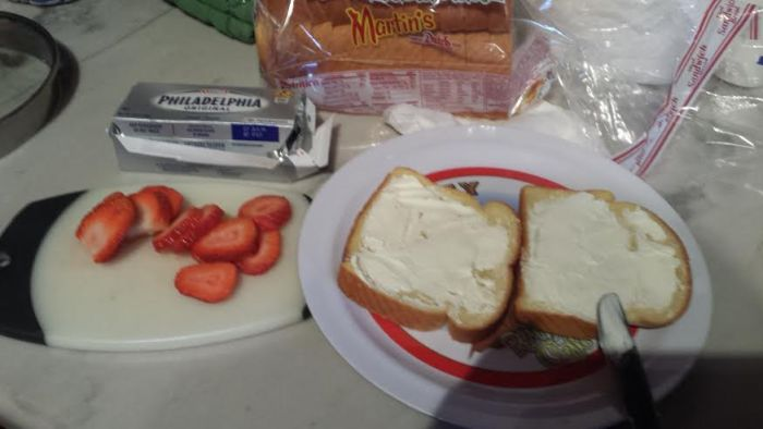 ingredients for strawberry cream cheese