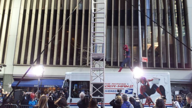 post office truck the-amazing-spider-man-2-nyc-premiere