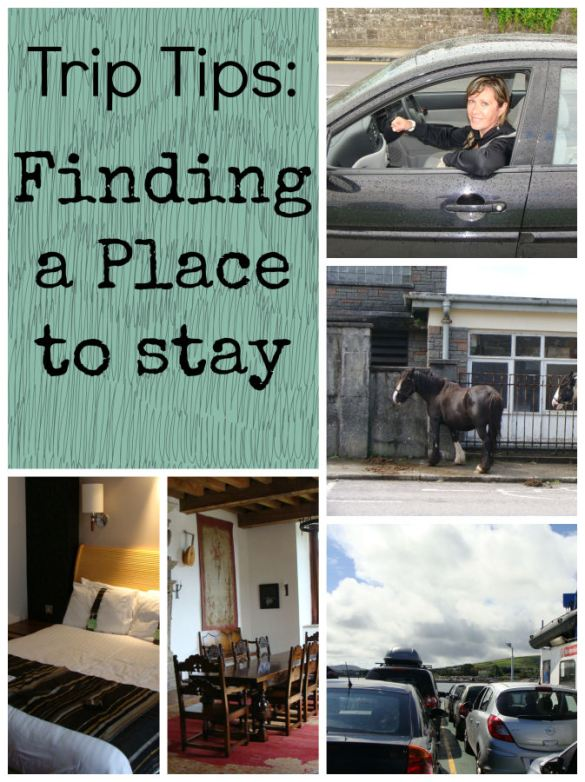 trip tips. Finding a place to stay