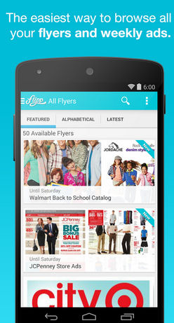 flipp the free digital flyer app that delivers store flyers to