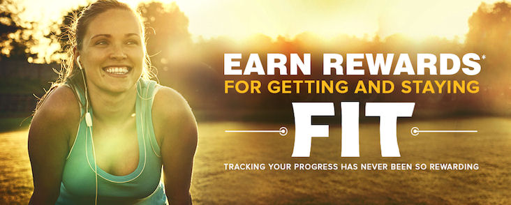 earn rewards for getting and staying fit