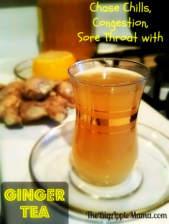 lemon ginger tea recipe, it helps loosen nasal congestion, sore throat, chills