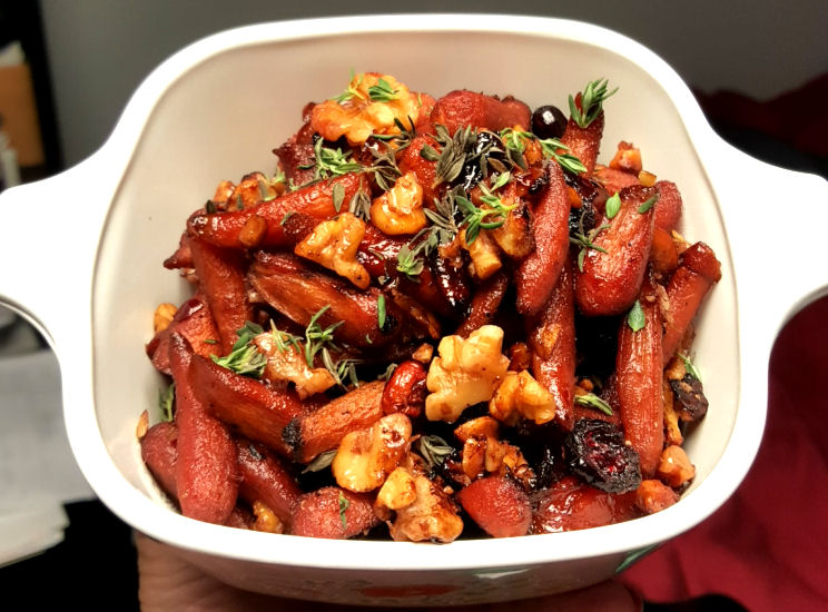 Pomegranate Glazed Carrots