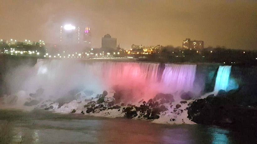 niagara falls colors usa side