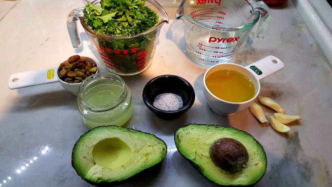 Ingredients for the Super Green Sauce