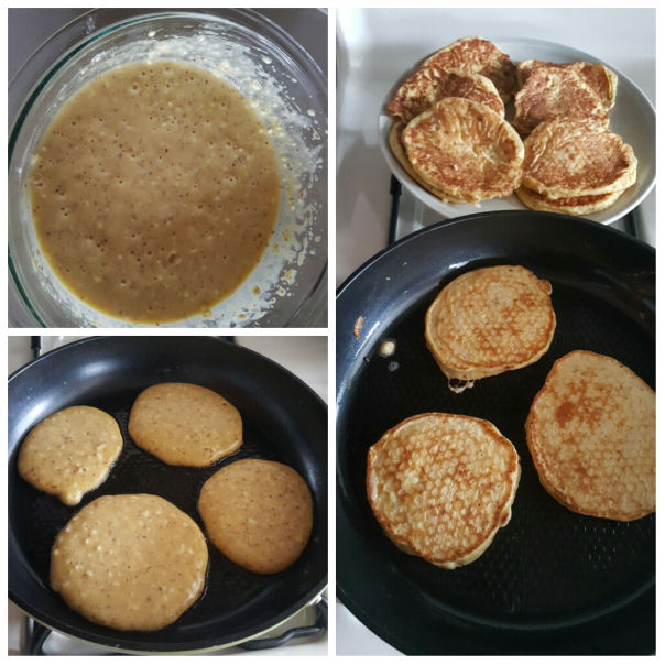 mixture - Fluffy  cottage cheese pancakes