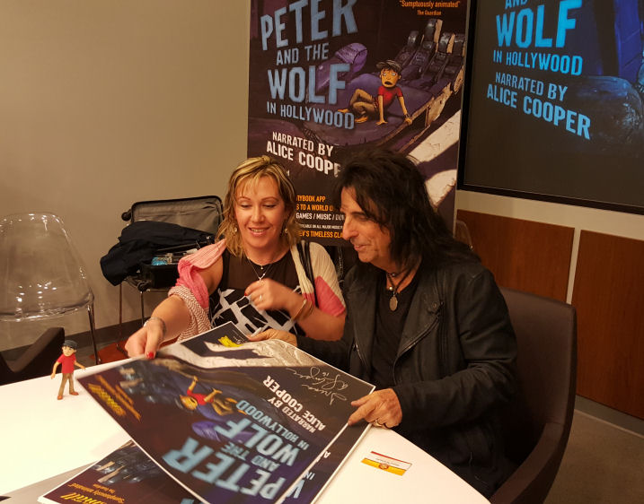 Alice Cooper is signing Peter and the wolf in Hollywood poster