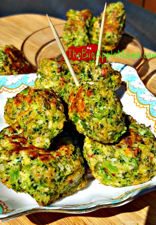 Delicious Low carb gluten free appetizer, Broccoli Tots