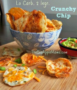 Crunchy low carb, 2 ingredients chips