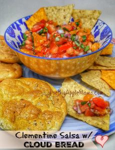 clementine salsa with cloud bread