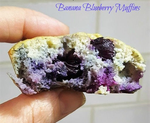 The Juiciest and Moist Low Carb Banana Blueberry Muffins
