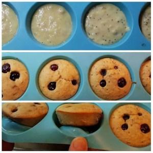 4-Ingredient paleo friendly gluten free very moist blueberry muffins
